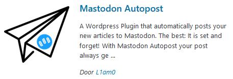 Mastodon Autopost